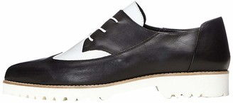 Find. Women's Brogues in Contrast Colour Leather Lace Ups