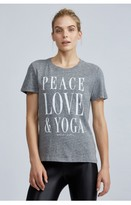 Spiritual Gangster Peace Love & Yoga Gym Tee