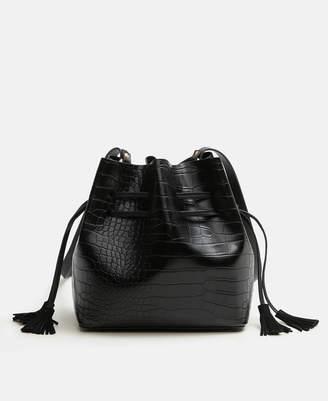 MANGO Croc-Effect Bag