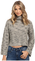 Obey Alexa Cropped Funnelneck Sweater