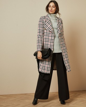 Ted Baker Houndstooth Wrap Coat