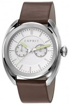Esprit Men's 44mm Brown Leather Band Steel Case Quartz Watch Es108051001