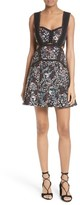 Self-Portrait Women's Floral Jacquard Minidress
