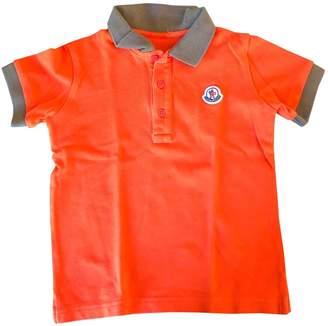 Moncler Orange Cotton Tops