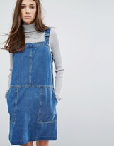 Oasis Patch Pocket Overall Dress