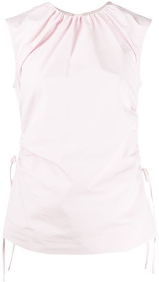 Marni Ruched Side Sleeveless Top