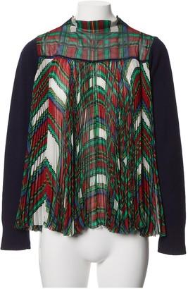 Sacai Navy Wool Knitwear for Women