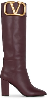 Valentino Supervee Tall Leather Boots