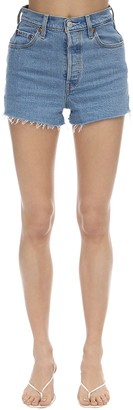 Levi's Rib Cage High Rise Cotton Denim Shorts
