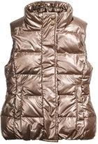 Imoga Cruz Quilted Metallic Puffer Vest, Gold, Size 2-6
