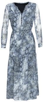 Ikks BQ30285-45 women's Long Dress in Blue