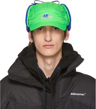 Ader Error ADER error Green Truck Logo Ear Flap Cap