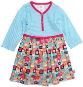 Zutano Tiny Town Pretty Pleats Dress (Baby) - Multicolor-18 Months
