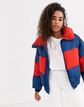 Pepe Jeans Agness colourblock padded jacket-Blue