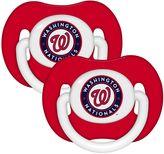 Baby Fanatic MLB Washington Nationals 2-Pack Pacifiers