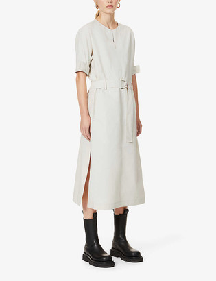 3.1 Phillip Lim Dolman-sleeved belted cotton-blend midi dress
