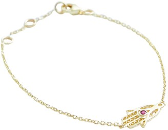Stephanie Grace Jewellery Coral Hamsa Hand Bracelet In Solid 14K Gold