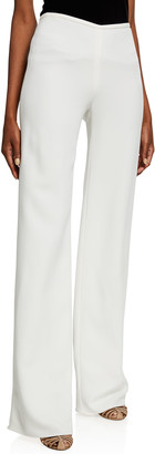 Emporio Armani Cady Crepe Side-Zip Trousers