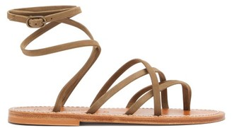 K. Jacques Zenobie Nubuck-leather Sandals - Khaki