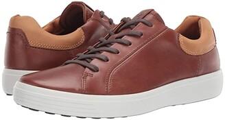 Ecco Soft 7 Classic Sneaker (Moonless/Amber) Men's Shoes