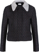 Carven Cropped bouclé-tweed jacket