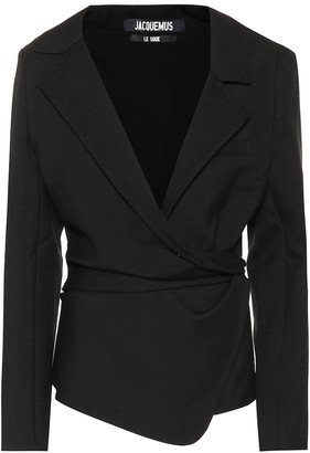 Jacquemus La Veste Saad wool wrap jacket