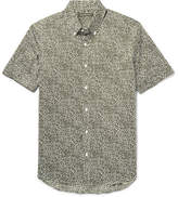 Michael Kors Slim-Fit Button-Down Collar Stretch-Cotton Poplin Shirt