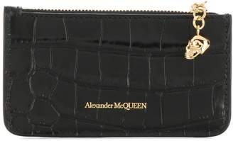 Alexander McQueen snakeskin-effect logo wallet