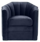 Eichholtz Delancey Barrel Chair Upholstery Color: Blue