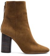 Isabel Marant Garett Velvet Boots in Brown.
