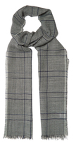 Lanvin Prince of Wales-checked linen-blend scarf