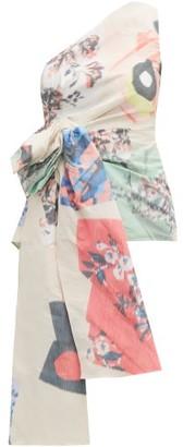 Roksanda Maika One-shoulder Abstract-jacquard Top - Multi