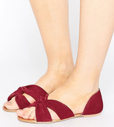 Asos Jerico Wide Fit Suede Knot Summer Shoes