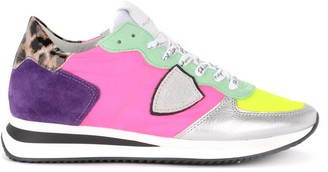Philippe Model Tropez X Sneaker In Multicolor Leather And Fabric