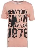 Calvin Klein Jeans Tafit Print Tshirt Pink