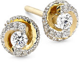 JCPenney FINE JEWELRY 1/4 CT. T.W. Diamond 10K Yellow Gold Swirl Stud Earrings