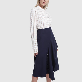 Chloé Side Tie Midi Skirt