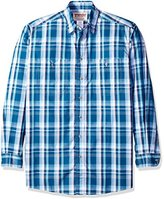 Wrangler Men's Big and Tall Wrinkle Resist Spread Collar Plaid Woven Shirt
