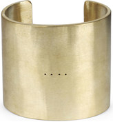 PARTS OF FOUR Ultra reduction matte brass cuff bracelet