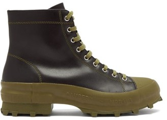 Camperlab - Traktori Studded Leather And Rubber Combat Boots - Black