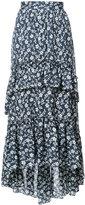 Ulla Johnson frilled maxi skirt - women - Silk/Cotton/Viscose - 4