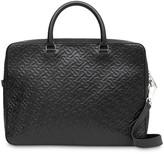 Burberry Monogram Leather Briefcase