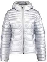 Napapijri AERONS Faux leather jacket silver
