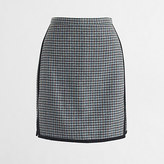 J.Crew Factory Double-notch houndstooth mini skirt
