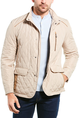 Canali Quilted Suede-Trim Jacket