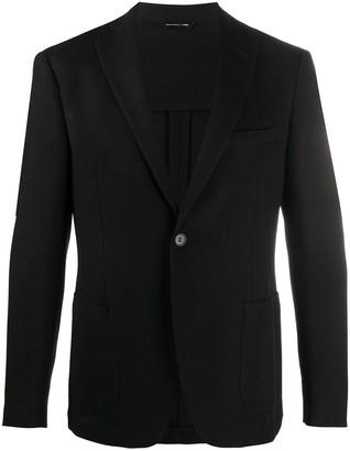 Tonello Textured Single-Breasted Blazer