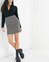Thumbnail for your product : New Look mini skirt in grey check