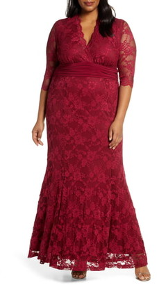 Kiyonna Screen Siren Lace Evening Gown