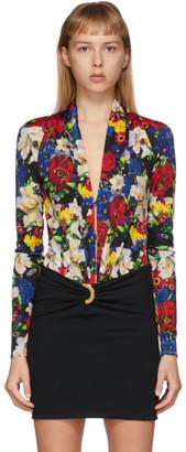 Versace SSENSE Exclusive Multicolor Floral Scoop Neck Bodysuit