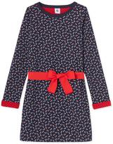 Petit Bateau Girls print tube knit dress